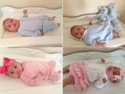Làm mẹ - Cặp sinh đôi 100 ngày tuổi mỗi ngày mặc một bộ hàng hiệu mới