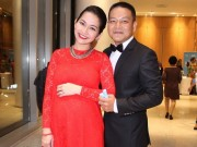 Làng sao - Kim Hiền khoe bụng bầu 7 tháng bên chồng
