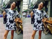 Làng sao - Trang Trần tự tin tạo dáng khoe bụng bầu