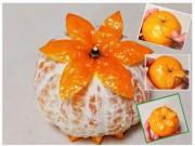 Bếp Eva - Cách tỉa quả cam đơn giản mà đẹp mắt