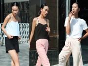 Trang Khiếu gợi ý cách mặc áo hai dây cho vóc dáng cao gầy