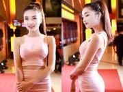 Làng sao - HH Triệu Thị Hà diện trang phục táo bạo đi xem phim