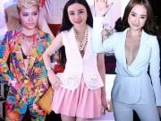 Thời trang - Sao Việt thích thú khoe vòng 1 với áo vest