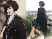 Bà bầu - Tâm Tít khéo che bụng bầu suốt thai kỳ bằng váy đen