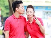 Làng sao - MC Phan Anh nhí nhảnh chu môi hôn Jennifer Phạm
