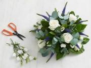 Nhà đẹp - Học cắm hoa hồng trắng đơn giản mà sang