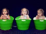Bà bầu - Ngắm ba bé gái sinh ba đẹp như thiên thần