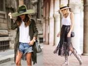 Thời trang - Diện trang phục tua rua không khó như bạn nghĩ