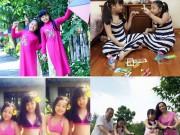 Làm mẹ - Ảnh đời thường cực đáng yêu của hai chị em Suti