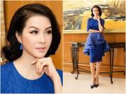 MC Thanh Mai đẹp quý phái với màu xanh hoàng gia