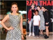 Làng sao - Hoa hậu Thu Hoài lần đầu đưa 3 con đi sự kiện