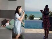 """Làng sao - Thu Minh hát """"phục vụ"""" con trai khiến fan thích thú"""