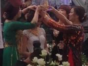 Clip Eva - Video: Đám cưới Nam Định, cô dâu đội vương miện 100 cây vàng