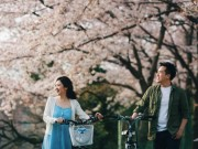 Eva Yêu - Ảnh cưới ngập sắc hoa anh đào lãng mạn như phim Hàn Quốc