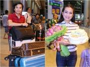 Mạnh Quỳnh, Hương Thủy được fan ra sân bay đón lúc 1h đêm