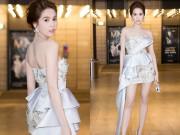 Làng sao - Ngọc Trinh vai trần, chân thon quyến rũ tại Hà Nội