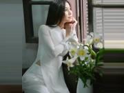 Thời trang - Tan chảy vì thiếu nữ Hà Nội chụp ảnh áo dài bên hoa loa kèn