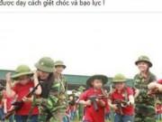 Tin tức - Sốc với hình ảnh dạy học sinh tiểu học cầm súng