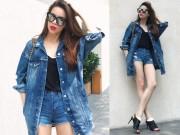 Thời trang - Hồ Ngọc Hà sexy bỏng mắt với soóc jean 5cm của Katun