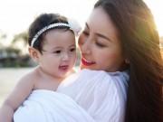 Làng sao - Hoa hậu Hà Kiều Anh đẹp ngỡ ngàng bên con gái út