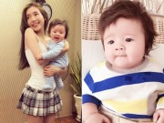 """Làng sao - Con trai 4 tháng rưỡi của Elly Trần """"đốn tim"""" fan"""