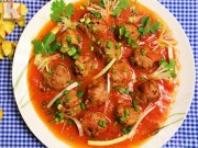 Bếp Eva - Thịt bò viên sốt cà chua đậm đà, ngon cơm