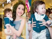 Làng sao - Elly Trần lần đầu bế con trai Alfie Túc Mạch dự sự kiện