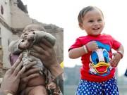 Làm mẹ - Bé sơ sinh bị chôn vùi trong động đất Nepal lớn bổng sau 1 năm