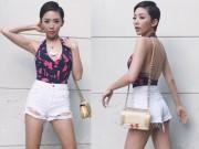 Thời trang - Tóc Tiên mặc quần soóc siêu ngắn lấp ló vòng 3