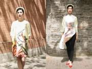 Xuân Lan đội mấn dịu dàng trên đường phố Thượng Hải