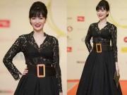 Hoa hậu Thu Thủy mất điểm vì váy xấu tại Cánh Diều Vàng