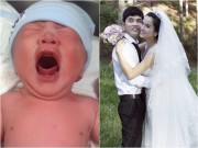 Làng sao - Vợ Ưng Hoàng Phúc đã sinh con trai kháu khỉnh