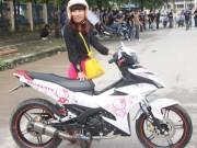 Tin tức - Xe dán hình Hello Kitty 'cực độc' của cô gái ở Hà Nội