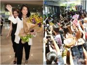 """Làng sao - Hồ Hạnh Nhi gây """"tắc nghẽn"""" sân bay Tân Sơn Nhất"""