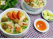 Bếp Eva - Bún thịt nấu chua dễ ăn cho ngày mới