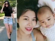 Vợ Đăng Khôi chia sẻ cách giảm cân an toàn khi cho con bú