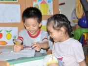 Ảnh đẹp của bé - Nguyễn Thành Trung và Nguyễn Khánh Chi - AD76207 - Hai bé hay cười