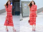 Thời trang - Hà Hồ đón hè đỏ rực với cây Gucci 150 triệu đồng