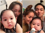 Làng sao - Khánh Thi khoe ảnh cả gia đình buộc tóc cực yêu