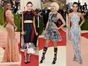 Thời trang - Mỹ nhân thế giới dập dìu váy áo trên thảm đỏ Met Gala