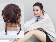 Làm đẹp - Angela Phương Trinh như nữ sinh với tóc tết hai bím