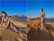 Làng sao - Hoa hậu Kỳ Duyên đẹp như nữ thần trên sa mạc cát
