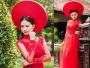 Thời trang cưới - Cô dâu mùa hè tuyệt xinh với áo dài cưới màu đỏ!