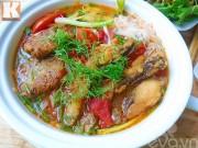 Bếp Eva - Bánh đa cá thơm ngon chào ngày mới