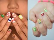 Làm đẹp - Những mẫu nail mát lạnh giúp bạn giải nhiệt mùa hè