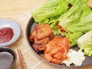Bếp Eva - Hấp dẫn với thịt ba chỉ nướng chảo cuộn xà lách kiểu Hàn