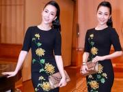 Thời trang - Linh Nga nổi bật với váy thêu hoa cúc cao quý