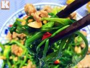 Bếp Eva - Nộm rau muống trộn thịt bò giòn ngon