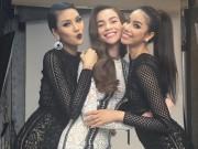 Thời trang - Lộ ảnh hậu trường sexy của Hà Hồ, Phạm Hương, Lan Khuê