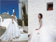 Làng sao - Kim Tuyến diện váy cưới, mơ màng giữa ngôi làng cổ Ý